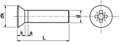 vis métaux TFP 6 à 8 mm